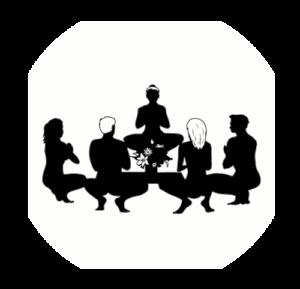 Bleistiftzeichnung Nackte TantraYoga Gruppe