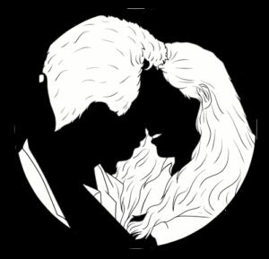 Bleistiftzeichnung küssendes Paar