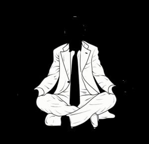 Bleistiftzeichnung Meditierender Mann