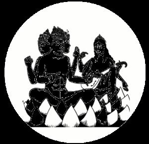 Bleistiftzeichnung Brahma Sarasvati