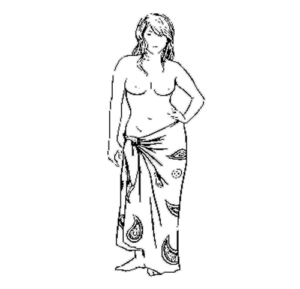Grafik Frau in Lunghi