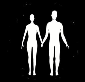 Bleistiftzeichnung Chakrapaar