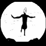 FKK Nudismus Bluttsein - nackte Frau springt ins Wasser