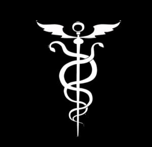 Bleistiftzeichnung Symbol Heilstab Kundalini