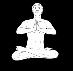 Grafik Meditierender Mann